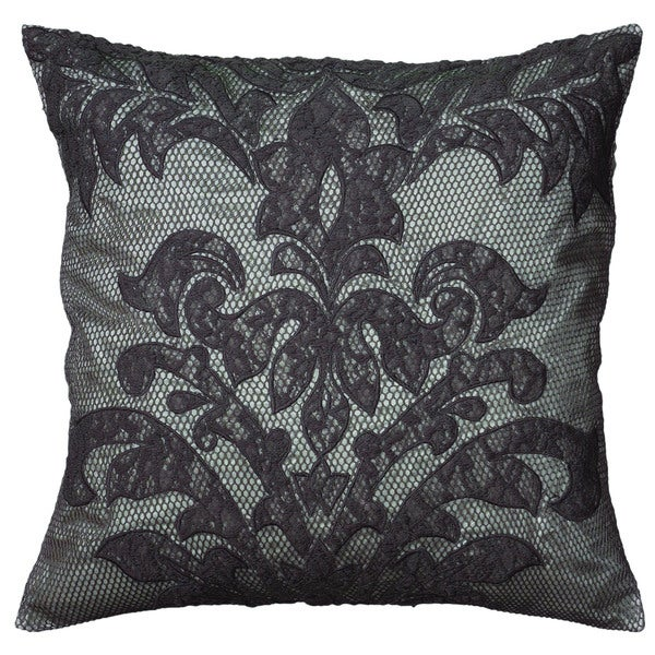 Rizzy Home Grey Square Pillow Cover
