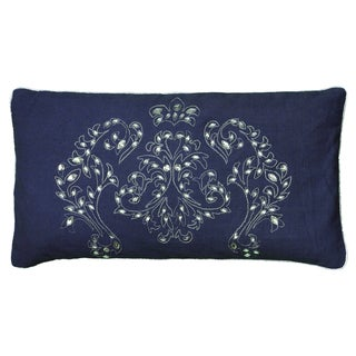 Rizzy Home Blue Rectangle Pillow Cover