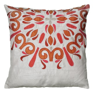 Rizzy Home Light Grey Square Pillow Cover