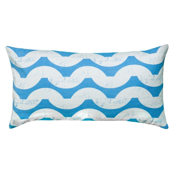 Rizzy Home Blue And White Rectangle Pillow Cover