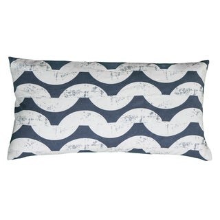Rizzy Home Navy And White Rectangle Pillow Cover