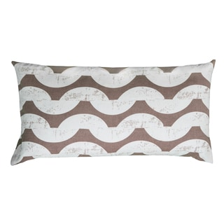 Rizzy Home Khaki And White Rectangle Pillow Cover