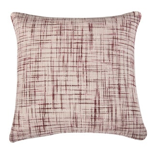 Rizzy Home Maroon And White Square Pillow Cover