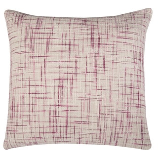 Rizzy Home Plum And White Square Pillow Cover