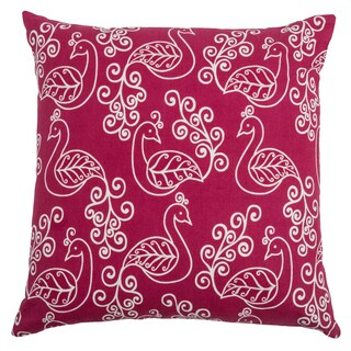 Rizzy Home Raspberry Square Pillow Cover