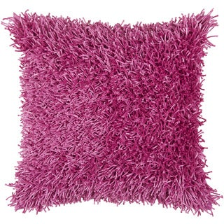 Rizzy Home Pink Fuzzy Square Pillow Cover