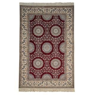 Signed Persian Nain Wool and Silk 400 kpsi Handmade Rug (6' x 9')