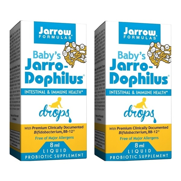 Jarrow Formulas Baby's Jarro-Dophilus 8 ml Liquid Drops (Pack of 2)