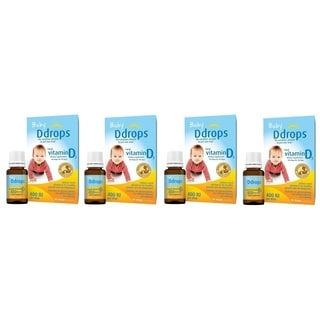 Baby D Drops Liquid VItamin D3 400 IU/Drop (Pack of 4)