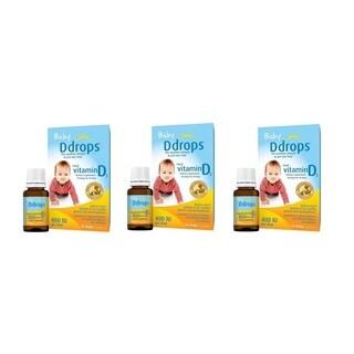 Baby D Drops Liquid VItamin D3 400 IU/Drop (Pack of 3)