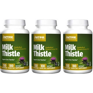 Jarrow Formulas 100 Capsules 150 MG Milk Thistle (Pack of 3)