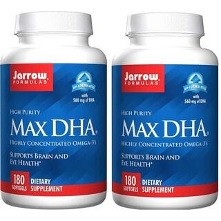 Jarrow Formulas 180 Softgels Max DHA (Pack of 2)