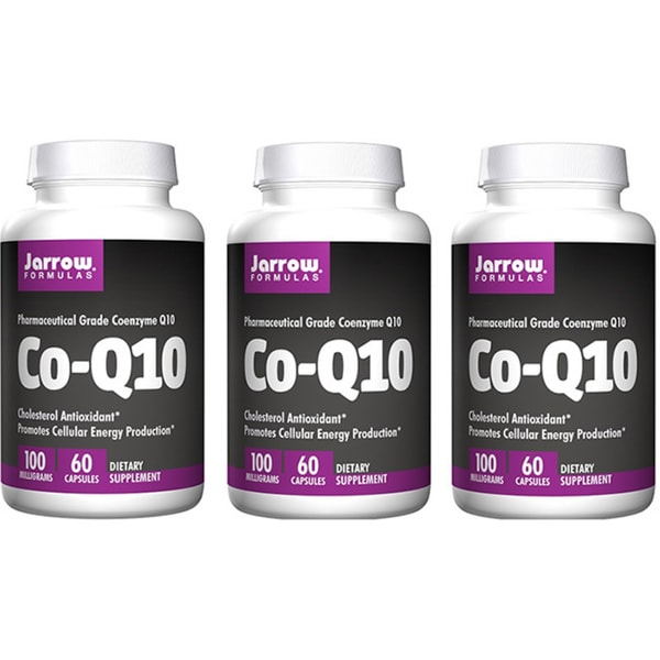 Jarrow Formulas 60 Capsule 100 mg, Co-Q10 60 Capsules (Pack of 3)