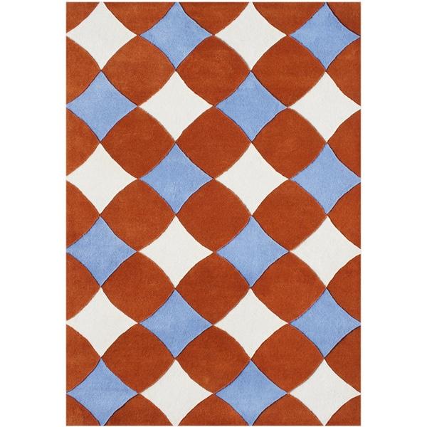 Alliyah Handmade Orange Rust New Zealand Blend Wool Rug (5' x 8')