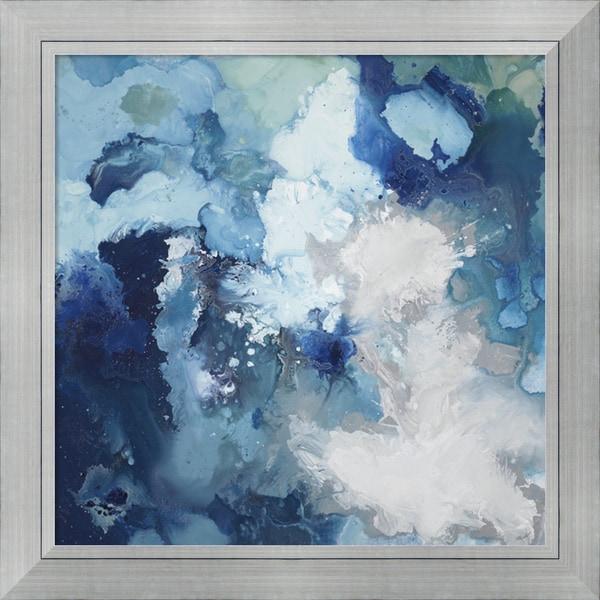 Randy Hibberd 'Blue Flo' Framed Art Print 42 x 42-inch