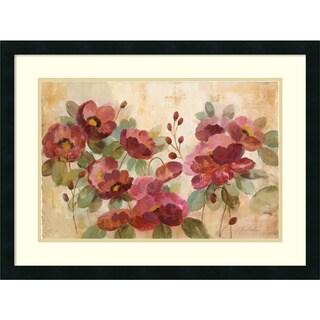 Silvia Vassileva 'Fleurs Rouge' Framed Art Print 28 x 21-inch