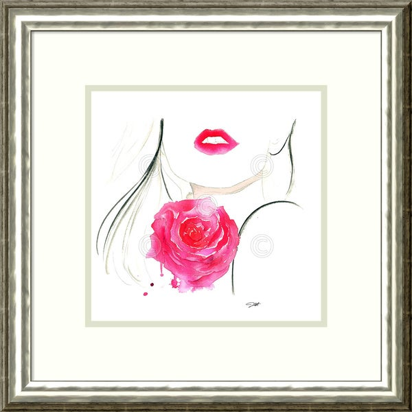Jessica Durrant 'Rouge in Love' Framed Art Print 21 x 21-inch