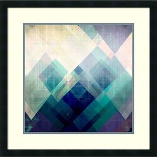 Amy Lighthall 'Teal Mountains II' Framed Art Print 26 x 26-inch