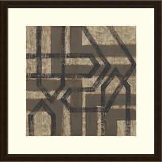 Chariklia Zarris 'Directional II' Framed Art Print 26 x 26-inch