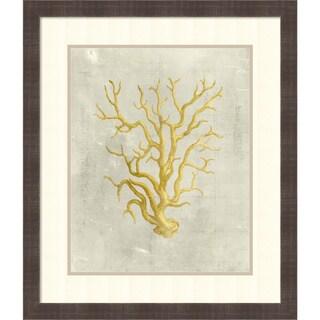 Vision Studio 'Coral in Mustard' Framed Art Print 24 x 28-inch