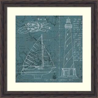 Marco Fabiano 'Coastal Blueprint III' Framed Art Print 28 x 28-inch