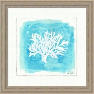 Lisa Audit 'Water Coral VI' Framed Art Print 19 x 19-inch