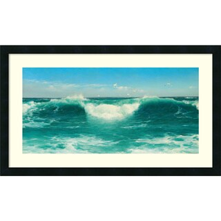 David James 'A Cornish Roller, 1898' Framed Art Print 32 x 19-inch