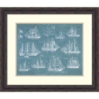 Wild Apple Portfolio 'Sailing Ships' Framed Art Print 28 x 24-inch