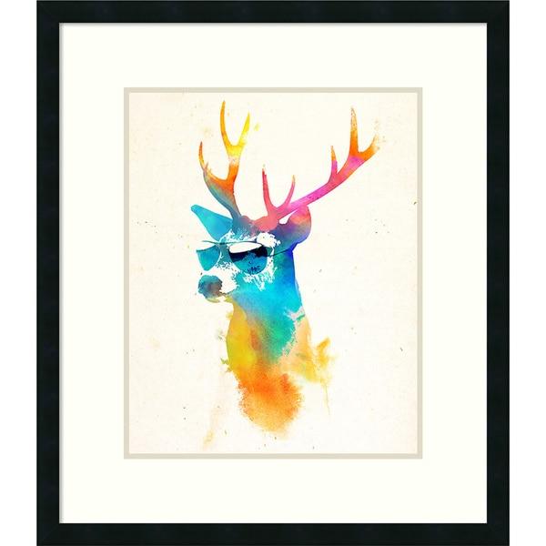 Robert Farkas 'Sunny Stag' Framed Art Print 26 x 30-inch