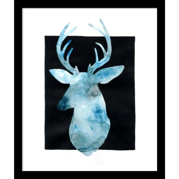 Grace Popp 'White Tail Bust II' Framed Art Print 14 x 16-inch 16063699