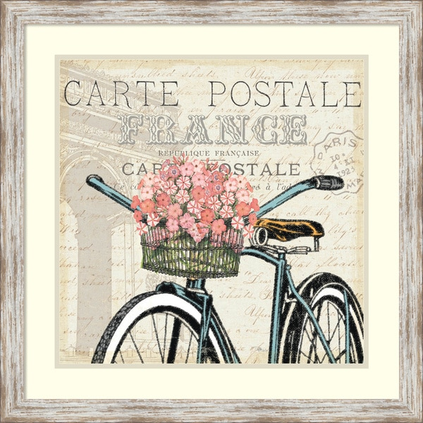 Pela Studio 'Paris Ride II' Framed Art Print 27 x 27-inch