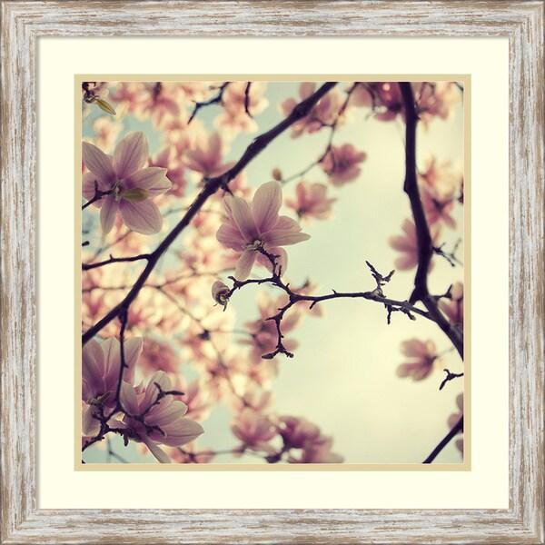 Irene Suchocki 'Pink Blossoms' Framed Art Print 23 x 23-inch