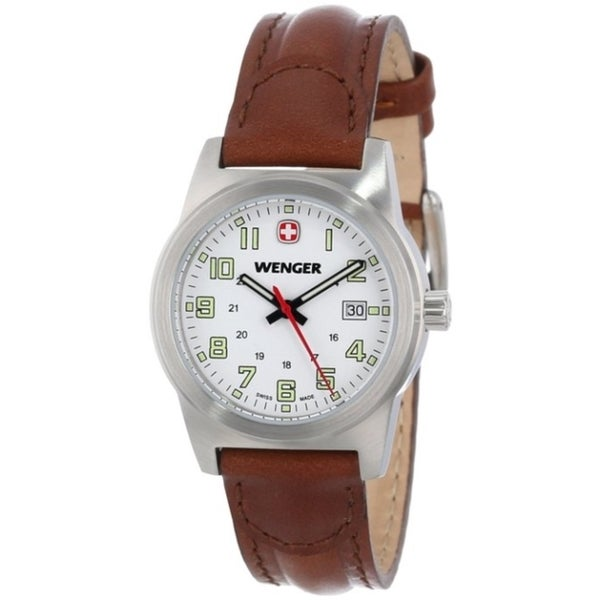 Wenger Women's Field Classic Stainless Steel Leather Date Watch