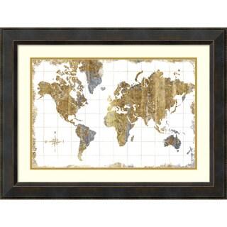 Michael Mullan 'Gilded Map' Framed Art Print 32 x 24-inch