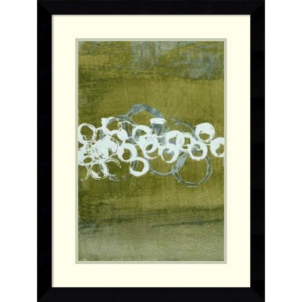 Charles McMullen 'Green Orbs I' Framed Art Print 25 x 33-inch