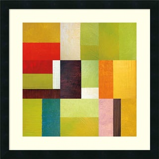Michelle Calkins 'Color Study Abstract 2' Framed Art Print 22 x 22-inch