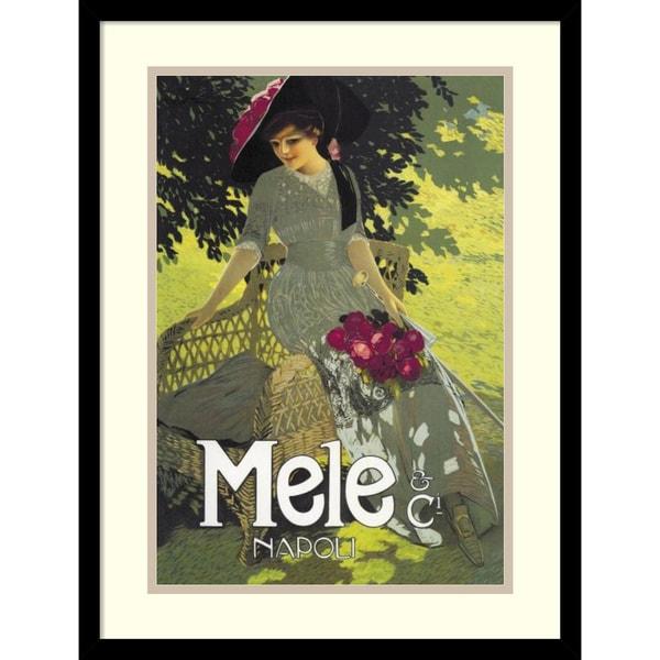 Aleardo Terzi 'Lady in Green, 1914' Framed Art Print 17 x 23-inch