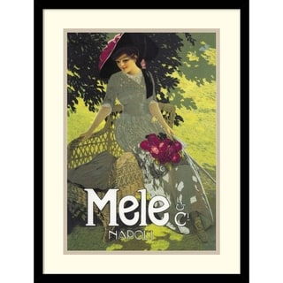 Aleardo Terzi 'Lady in Green, 1914' Framed Art Print 17 x 23-inch