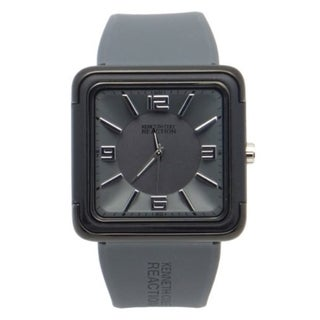 Kenneth Cole Reaction Grey Square Face Grey Strap Men's Watch