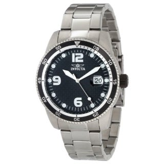 Invicta Men's Large Pro Diver Automatic Black Dial Steel Date Watch