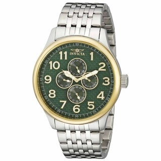 Invicta Men's Specialty Large Steel Day Date 24hr.time Watch