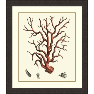 Vision Studio 'Red Coral I' Framed Art Print 35 x 40-inch
