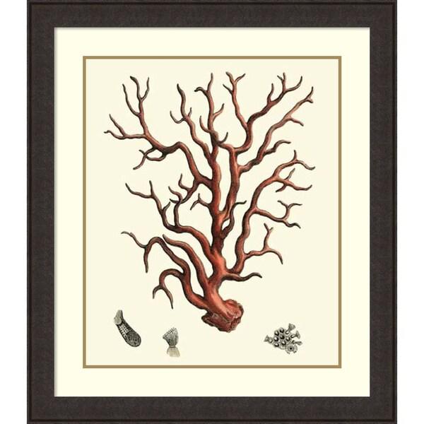 Vision Studio 'Red Coral I' Framed Art Print 35 x 40-inch