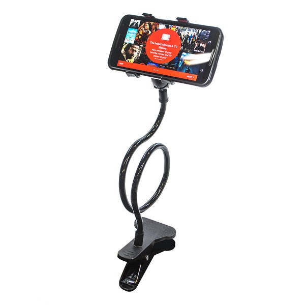 Flexible Long-arm Mobile Phone Holder with Clip Mount