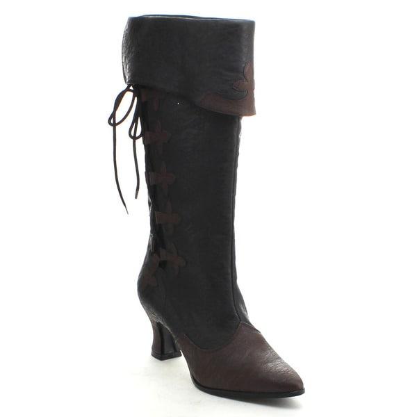 Funtasma Victorian-128 Women's Kitten Heel Mid-calf Pull-on Boot