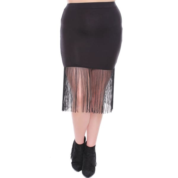 Juniors' Black Fitted Mini Skirt