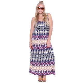 Juniors' Plus Size Multi Color Print Maxi Dress