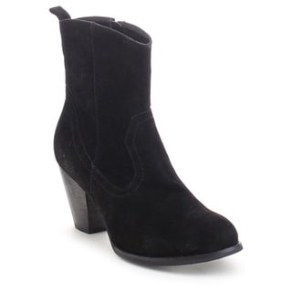 Refresh Dion-01 Women's Side Zip Chunky Stacked Heel Dress Ankle Booties