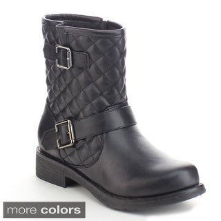 Refresh Women's Quilted Side Zip Ankle Boots