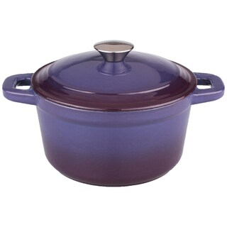 Neo 7-quart Cast Iron Purple Round Covered Casserole Dish